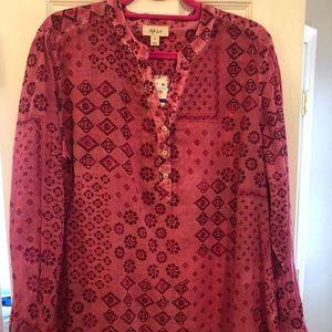 Patterned blouse, XL
